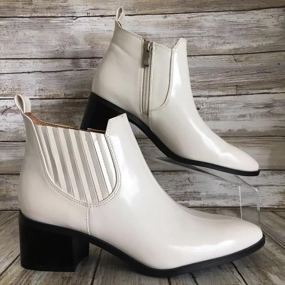 Franco Sarto Alesso White Ankle Boots